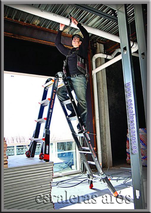 Escalera multiusos fibra dark escaleras y andamios for Escalera multiusos