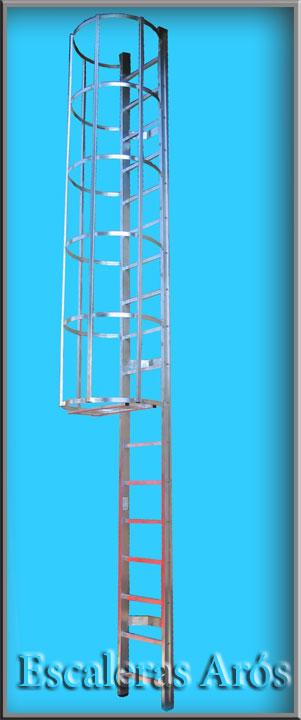 Escalera vertical escaleras y estructuras especiales - Escalera de gato con proteccion ...