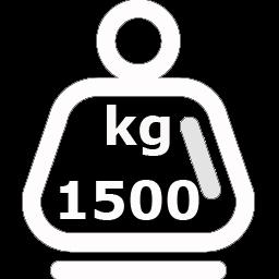 1.500 kg de capacidad máxima de carga