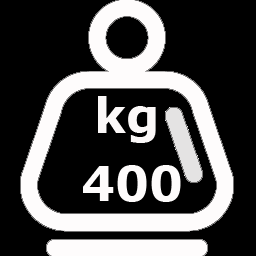 400 kg de carga máxima en plano