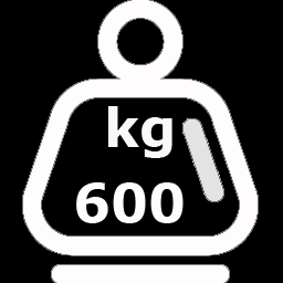 CAPACIDAD DE CARGA 600 kg